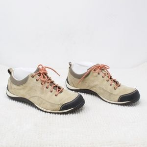 LL Bean Tan Suede Sneakers Size 9